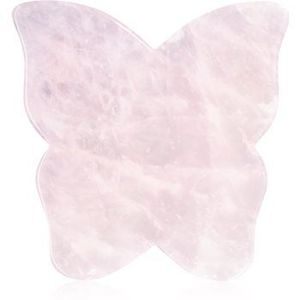 Crystallove Butterfly Rose Quartz Gua Sha Plate accesoriu de masaj imagine