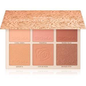 Sigma Beauty Cor-de-Rosa Blush Palette paleta fard de obraz imagine