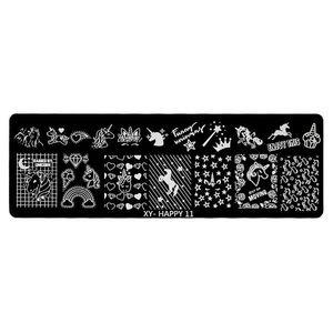 Matrita Metalica Stampila Unghii LUXORISE, Unicorn & Magic imagine