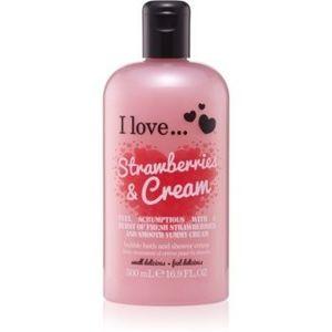 I love... Strawberries & Cream cremă de duș și baie imagine