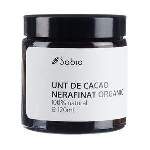 Unt de cacao nerafinat organic, 120ml, Sabio imagine