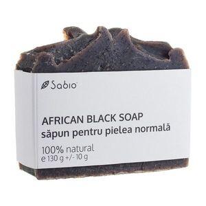 Sapun natural pentru pielea normala African Black Soap, 130g, Sabio imagine