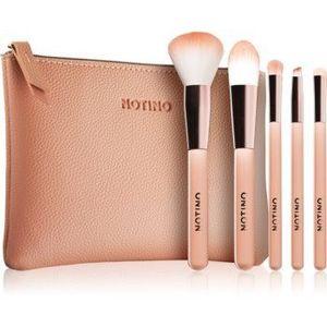 Notino Glamour Collection Travel Brush Set with Pouch set de călătorie cu pensule pentru femei imagine