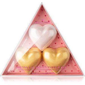 I Heart Revolution Fizzer Kit Mettalic Heart tablete colorate efervescente pentru baie imagine