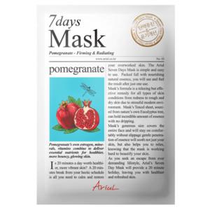 Masca servetel cu rodie 7Days Mask, 20g, Ariul imagine