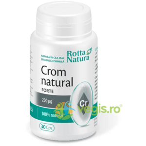 Crom Natural Forte 200mg 30cps imagine