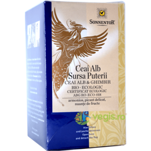 Ceai Alb Sursa Puterii cu Ghimbir Ecologic/Bio 18dz imagine