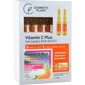 Set Vitamin C Plus (Fiole cu Vitamina C Tetra 6*2ml + Crema Antirid Regeneratoare 50+ 50ml) imagine