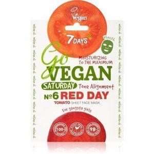 7DAYS GoVEGAN Saturday RED DAY mască textilă nutritivă imagine