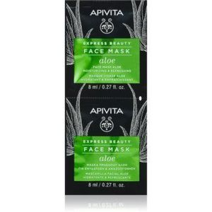 Apivita Express Beauty Aloe mască hidratantă răcoritoare facial imagine