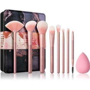 Makeup Revolution Forever Flawless set de pensule cu husă imagine