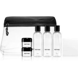Notino Travel Collection set de călătorie cu 5 flacoane goale într-o geantă și autocolante imagine