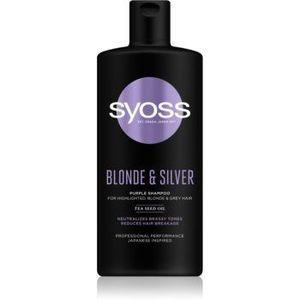 Syoss Blonde & Silver sampon violet pentru părul blond şi gri imagine